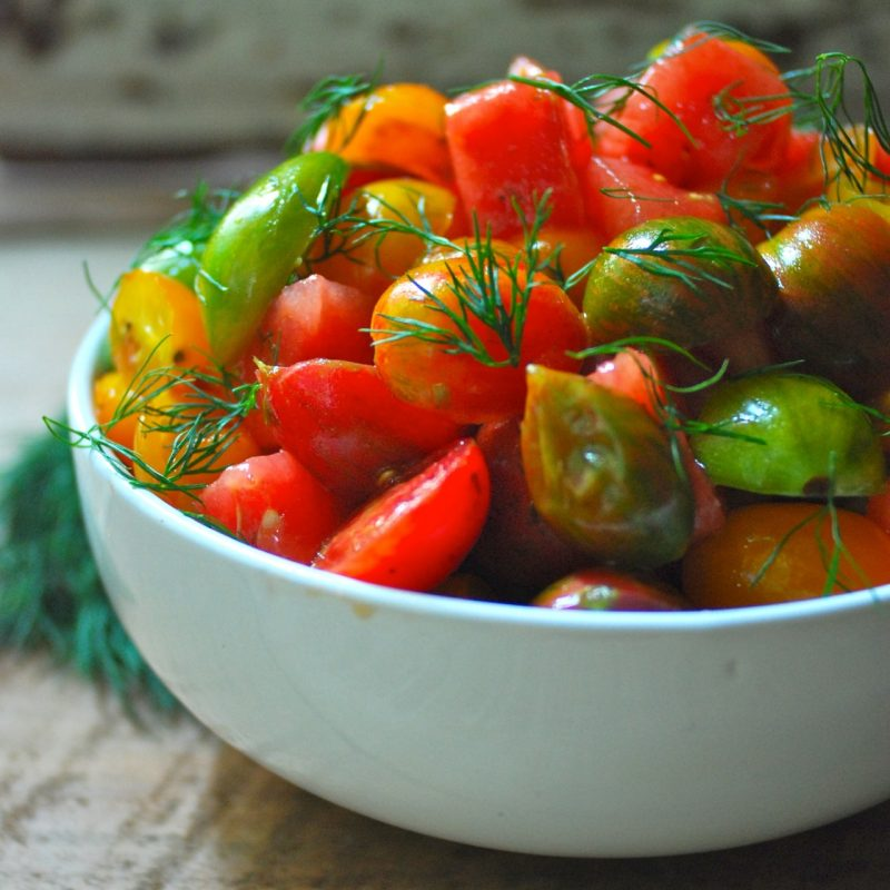 Watermelon Heirloom Tomato Salad Recipe