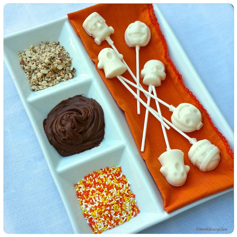 Vanilla Coconut Halloween Pops Recipe