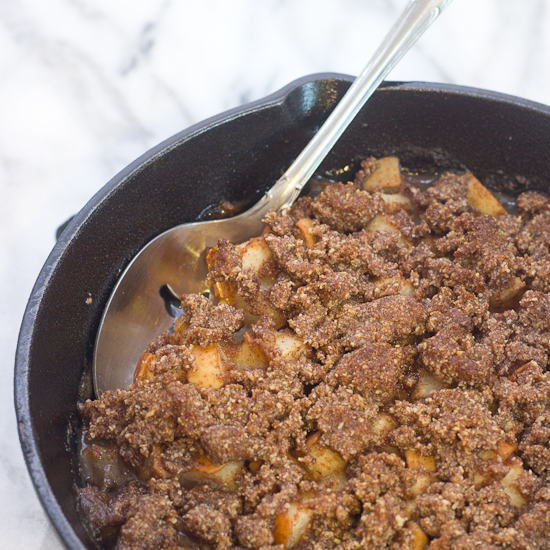 Grain Free Skillet Apple Pear Crisp Recipe