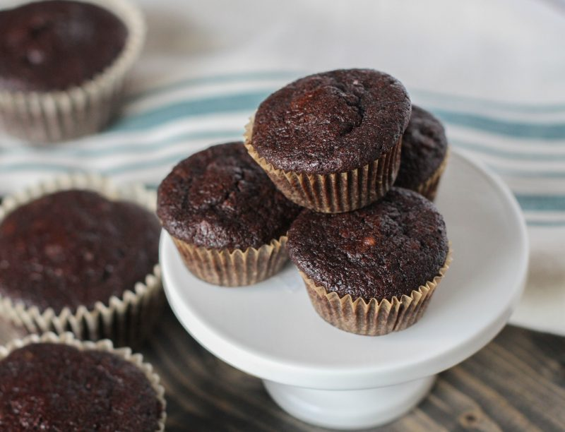 Dark Chocolate Pecan Mini Muffins Recipe