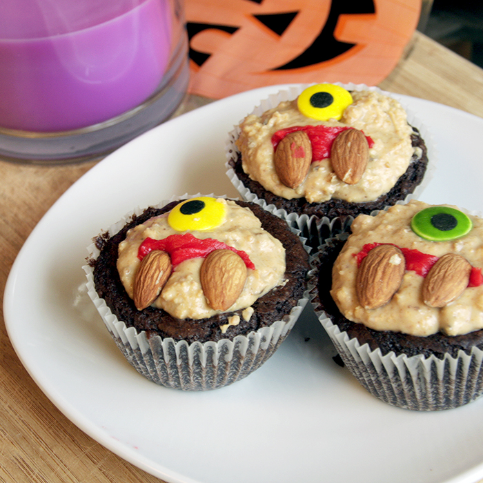 Almond Butter Monster Cupcakes Recipe