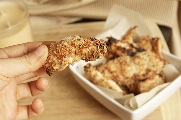 Coconut Encrusted Buffalo Chicken Strips Recipe