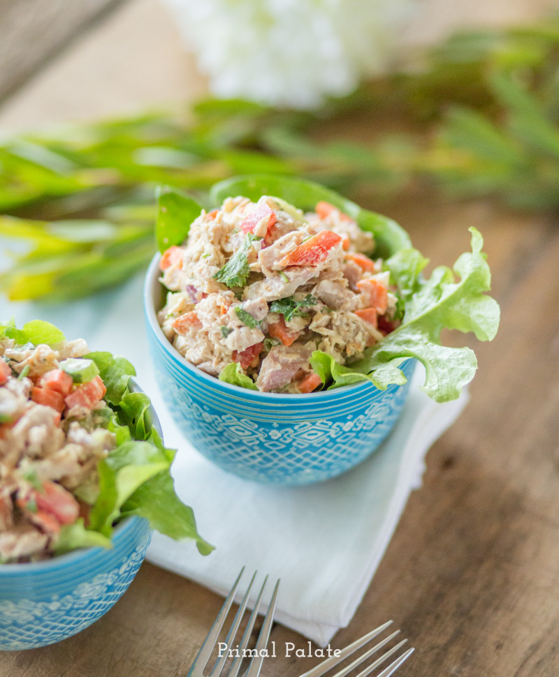 paleo chicken salad - primal palate -1