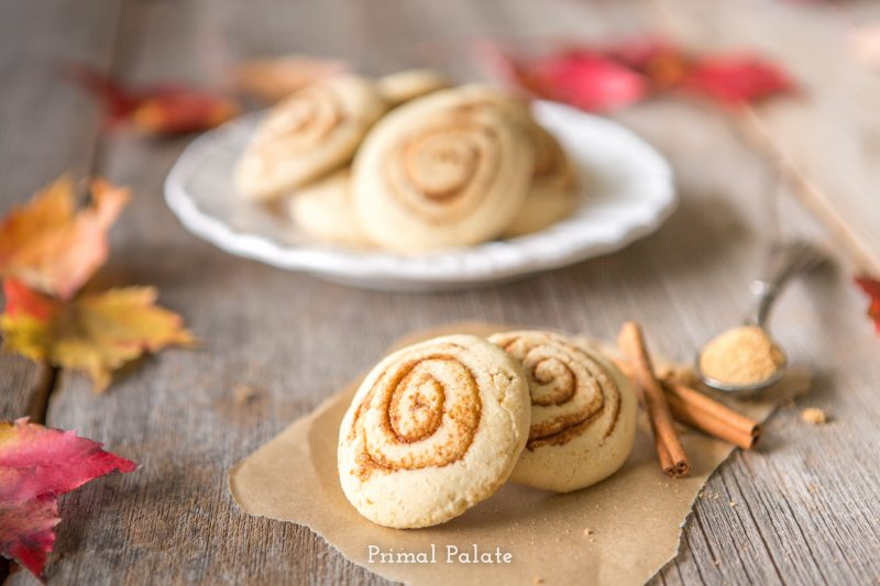 paleo cinnamon swirl cookies - primal palate -1