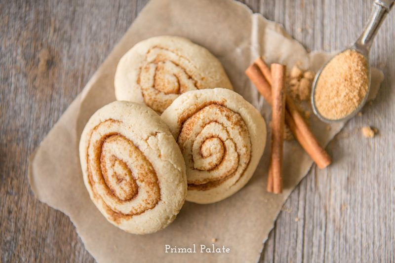 paleo cinnamon swirl cookies