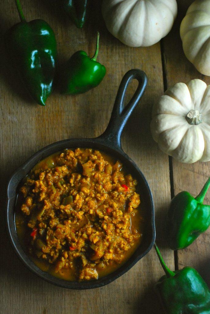 Pumpkin Poblano Turkey Chili Recipe