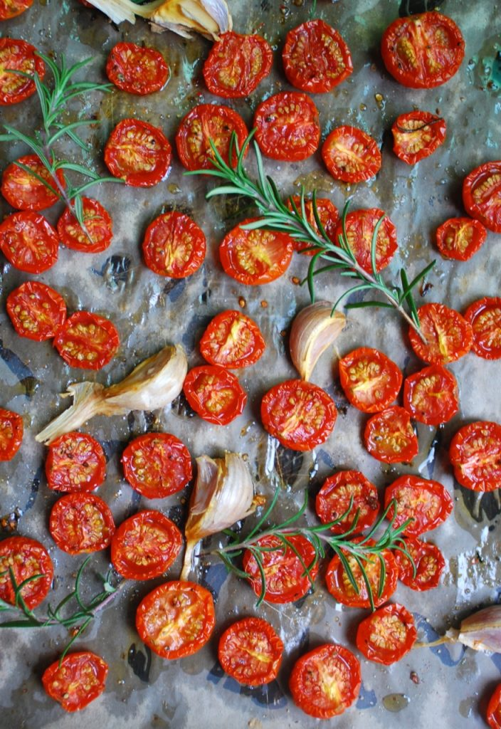 Garlic & Rosemary Slow Roasted Tomatoes Recipe