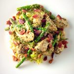 Chicken Alfredo with Asparagus and Bacon