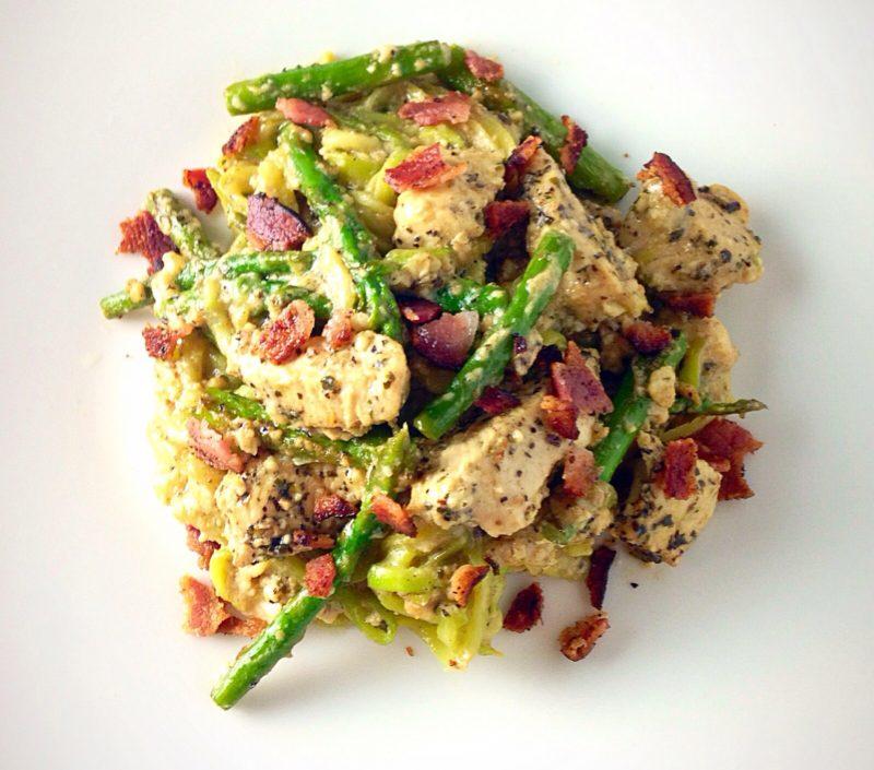 Chicken Alfredo and Asparagus Recipe