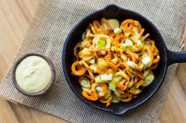 Pumpkin Alfredo with zucchini noodles