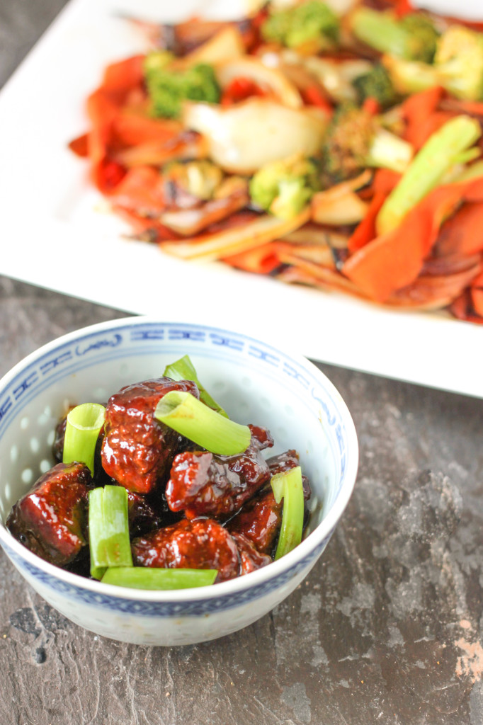 Mongolian Beef and Drunken Carrot Noodles