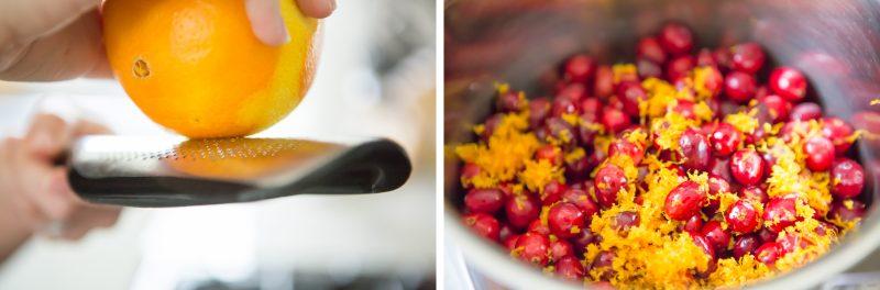 Orange Zest and Cranberries