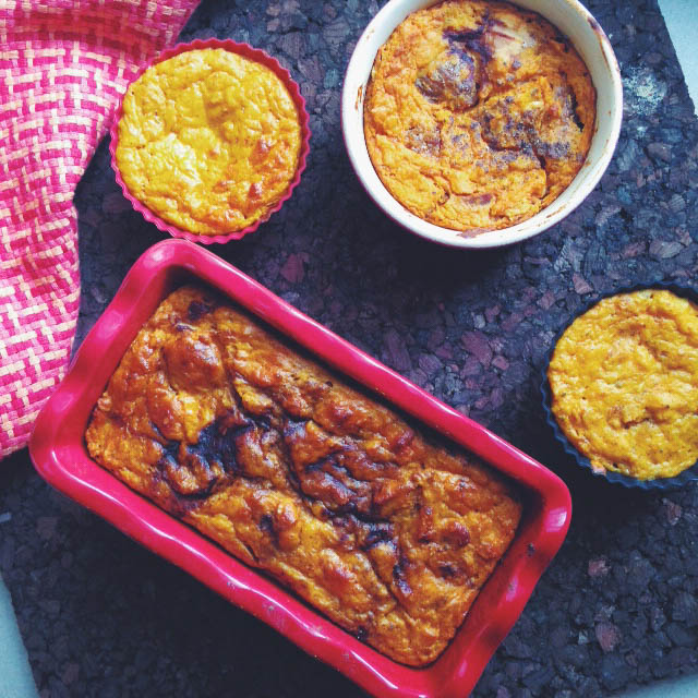 Pumpkin and FIg Bread Pudding Bakes