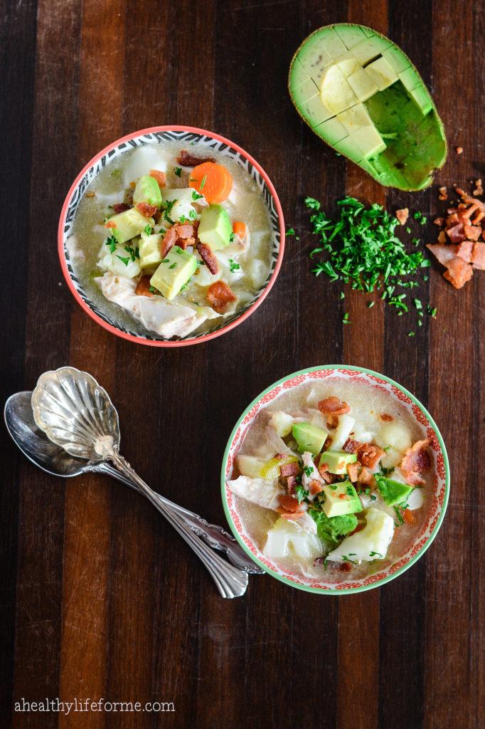Paleo Cauliflower Chicken Chowder Recipe