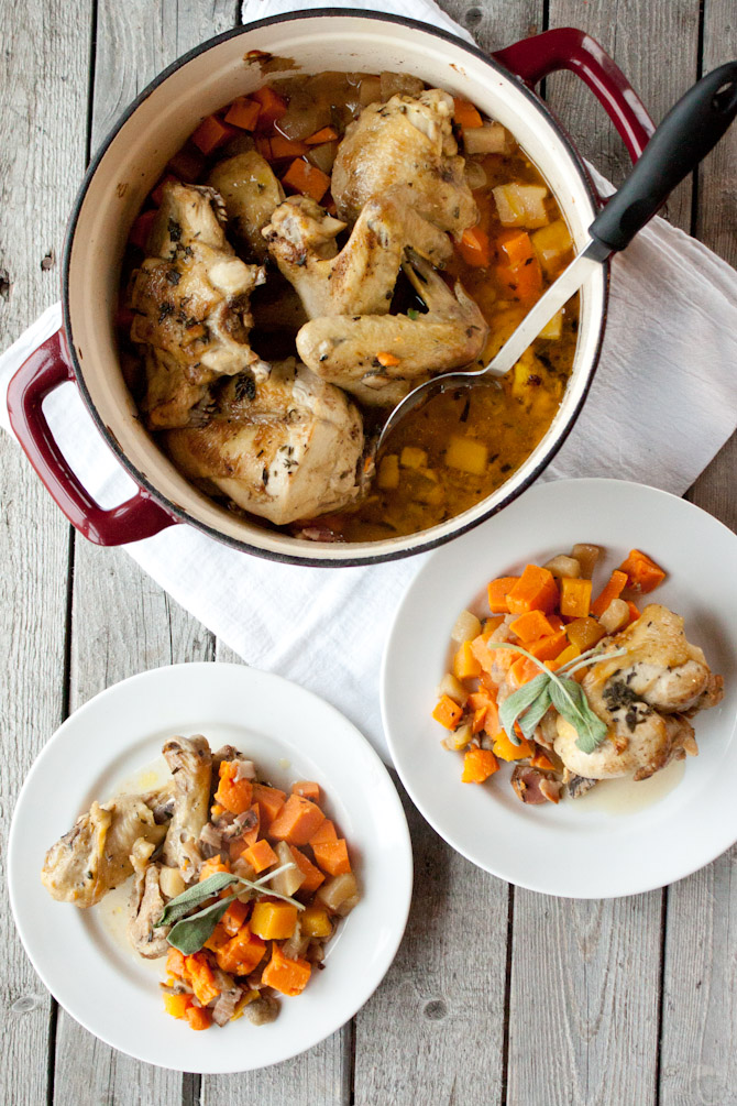 One Pot Savory Chicken and Fall Produce Recipe