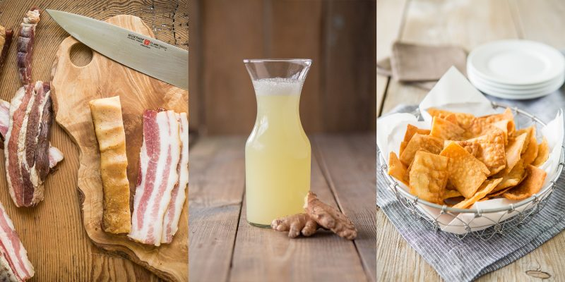 cure your own bacon, ginger beer, paleo fried wontons