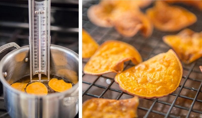 Fried Sweet Potato Chips Recipe