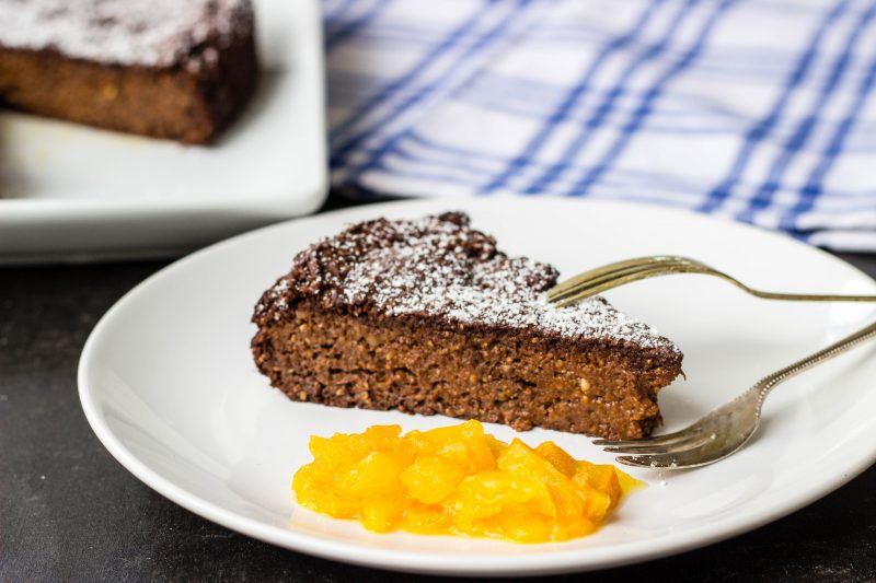 paleo flourless chocolate orange cake-9