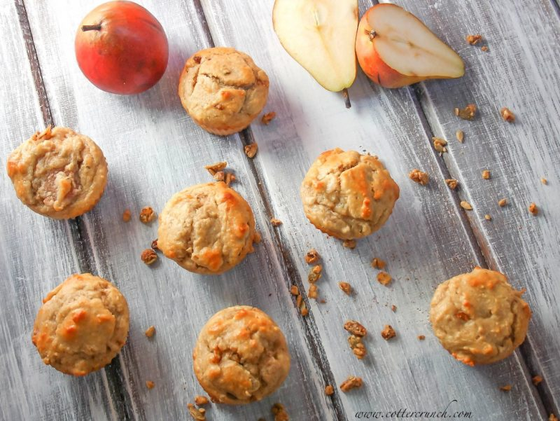 Paleo Ginger Spiced Pear Muffins Recipe