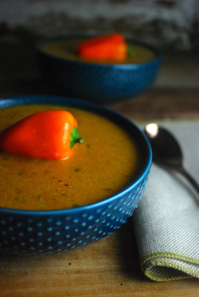 Roasted Garlic Sweet Pepper Soup Recipe
