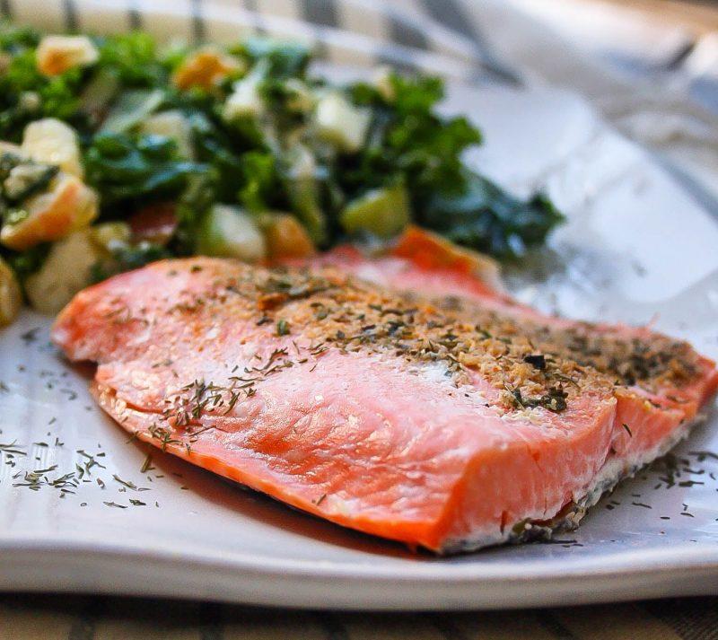 Rosemary Salmon with Orange Zest Recipe