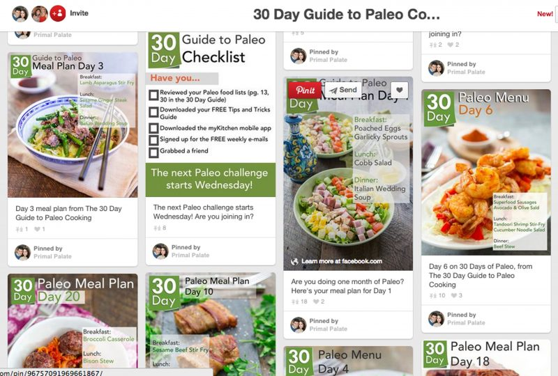 30 Day Guide Pin Board
