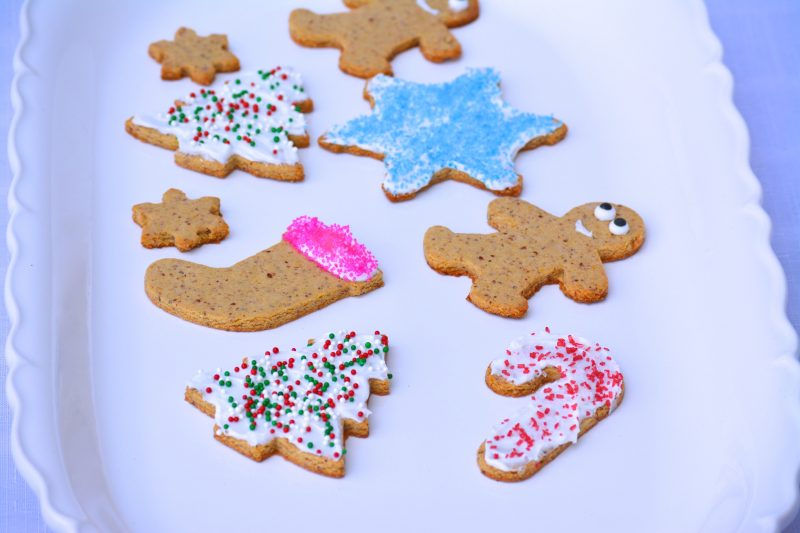 Cut out christmas cookies