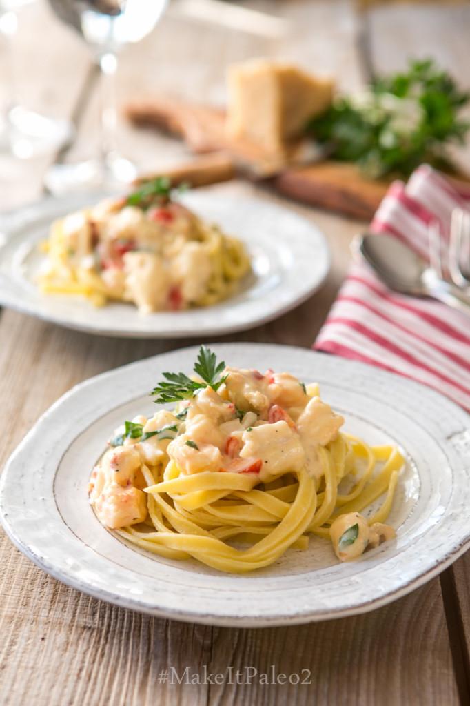 Make It Paleo 2 -Lobster Fettuccine Alfredo