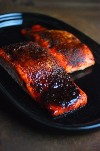 Oven Roasted BBQ Salmon