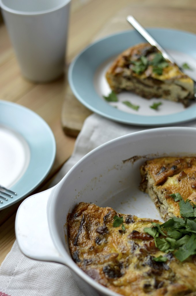 Paleo Chicken Bacon Mushroom Quiche