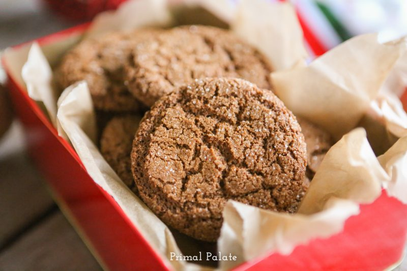 Paleo Gingersnaps | Grain-free Christmas Cookies