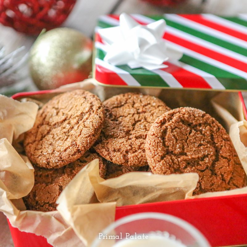 Paleo Gingersnaps | Grain-free Christmas Cookies-9