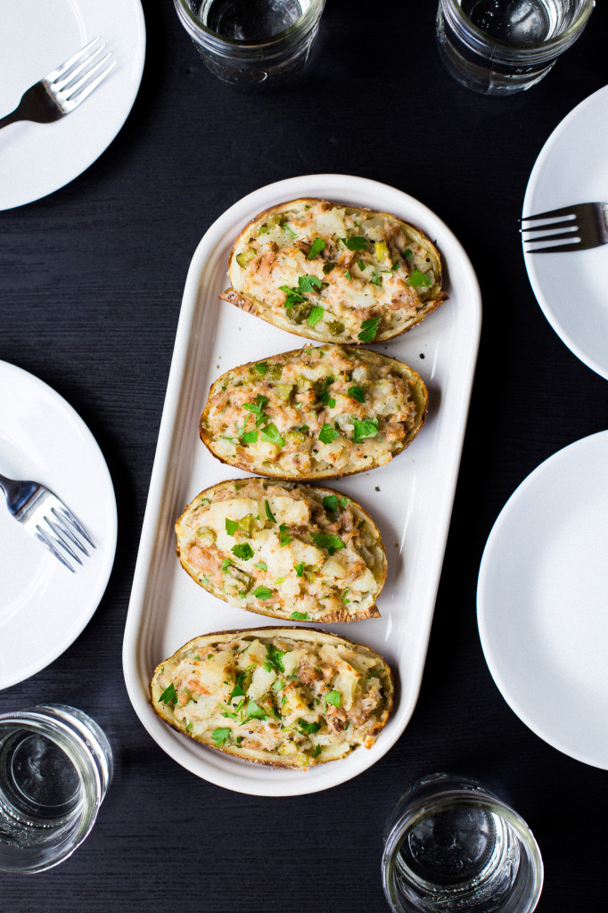 Tuna Stuffed Potatoes