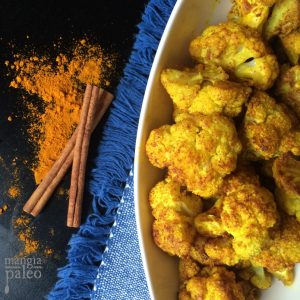 Turmeric Cinnamon Roasted Cauliflower