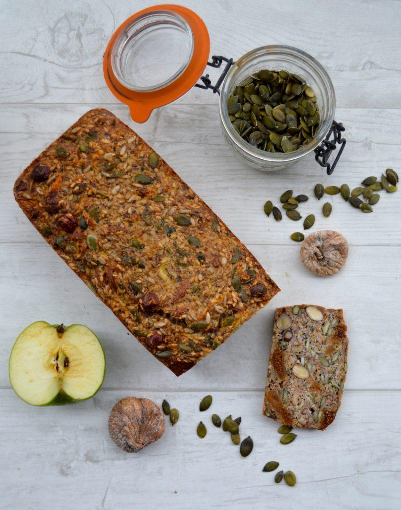 Nut, Seed, Apple and Plum Loaf Recipe