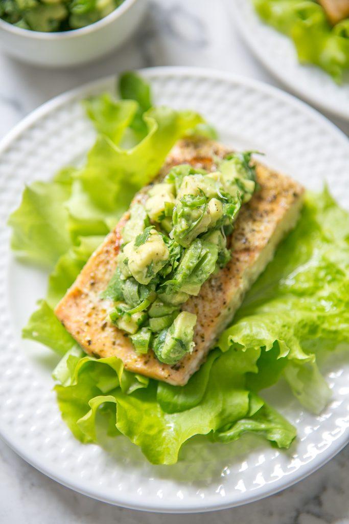 Adobo Salmon with Avocado Salsa-1