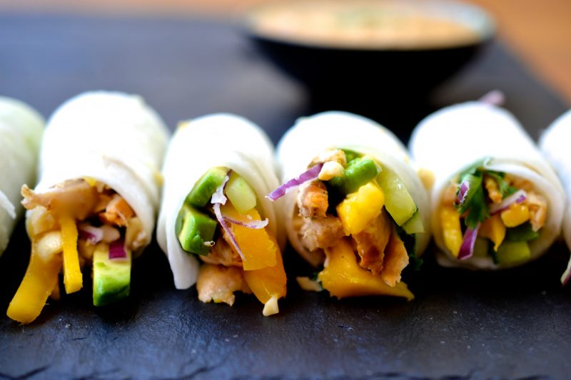 Chicken Mango Avocado Rolls