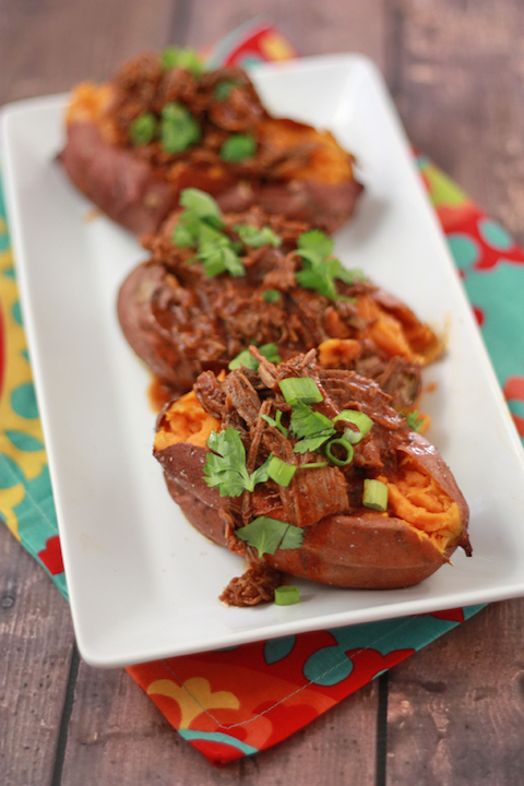 Chile Colorado Stuffed Sweet Potatoes