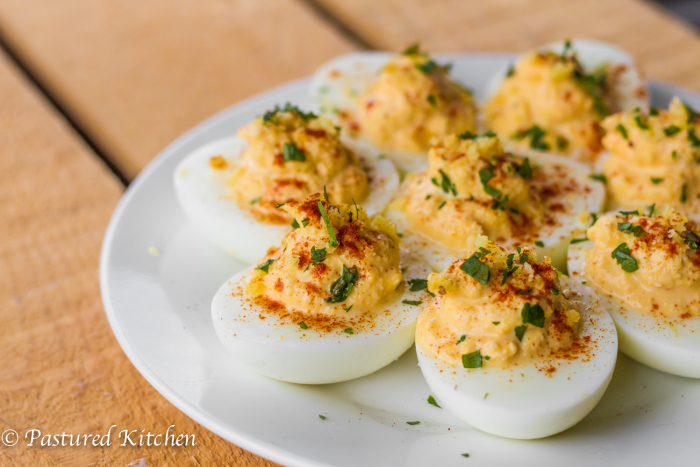 Crab Cake Deviled Eggs by Pastured Kitchen