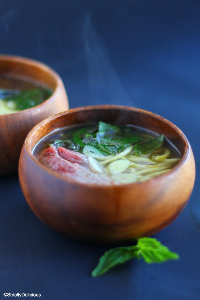 Easy Zucchini Noodle Beef Pho Recipe