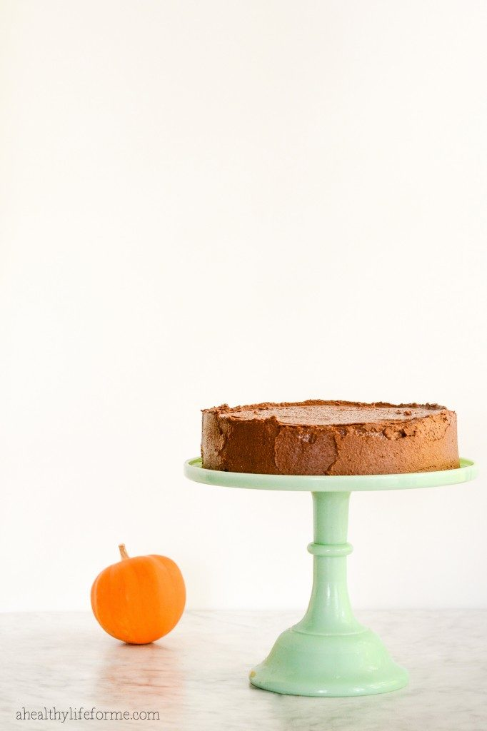 Pumpkin Maple Cake with Chocolate Coconut Buttercream Frosting Recipe