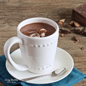 Homemade healthy hot chocolate