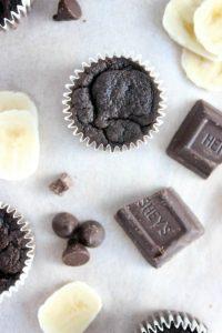Double Chocolate Banana Mini Muffins