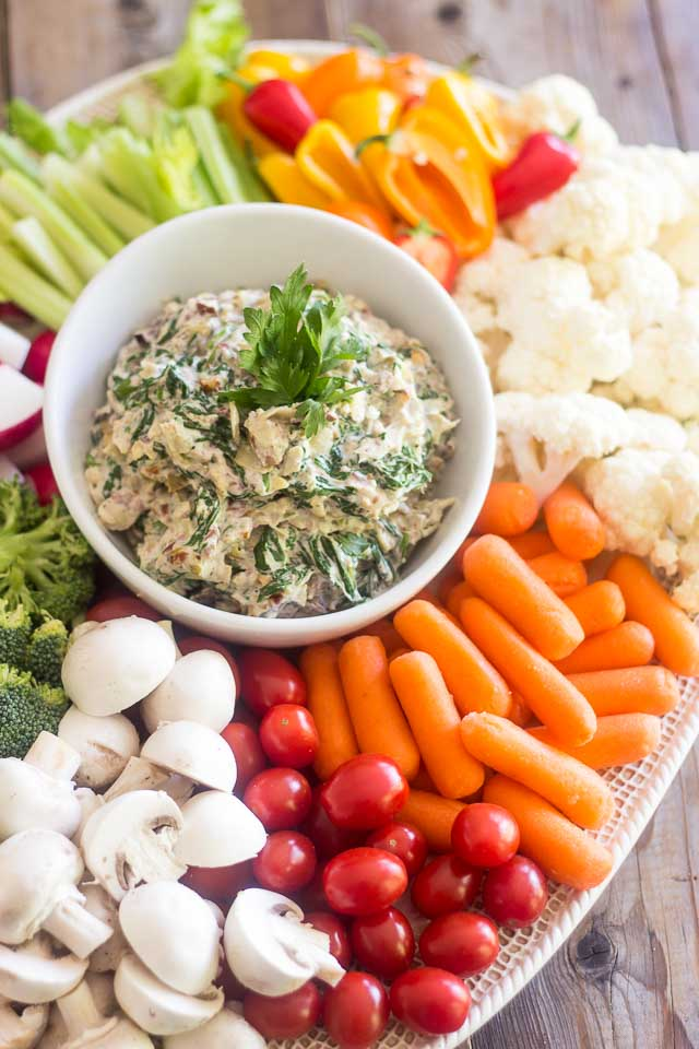 Olive Artichoke and Spinach Dip