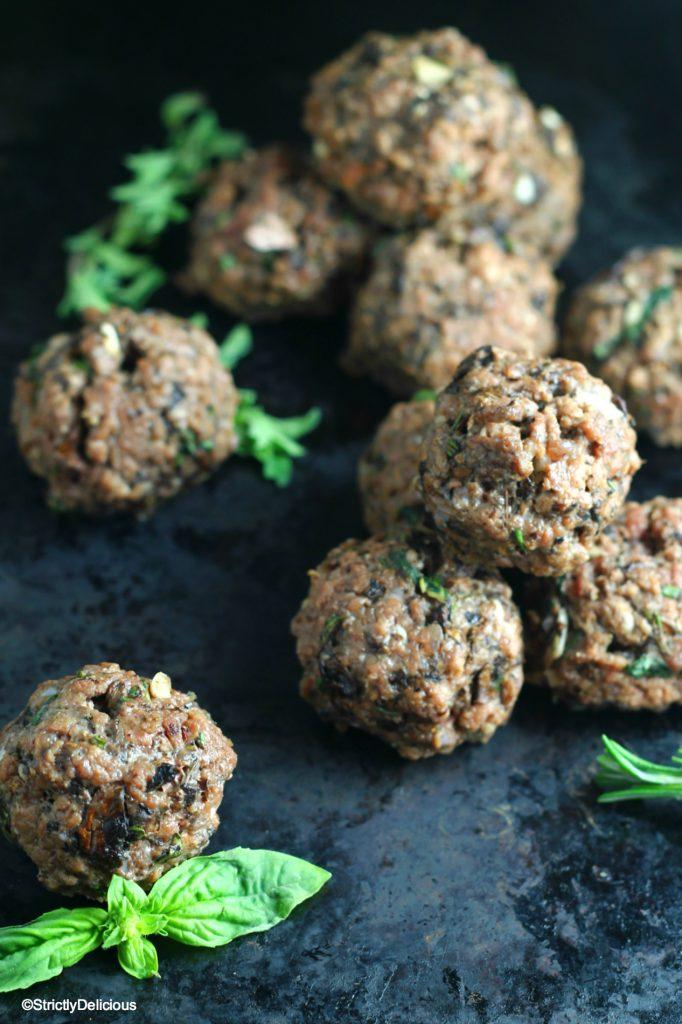Paleo Mushroom Herb Meatballs Recipe