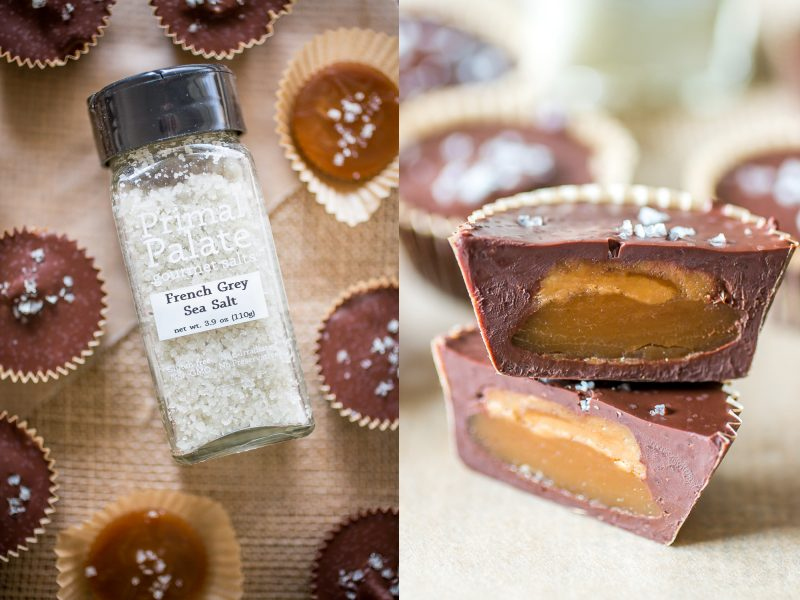 Paleo Salted Caramel Cups-collage