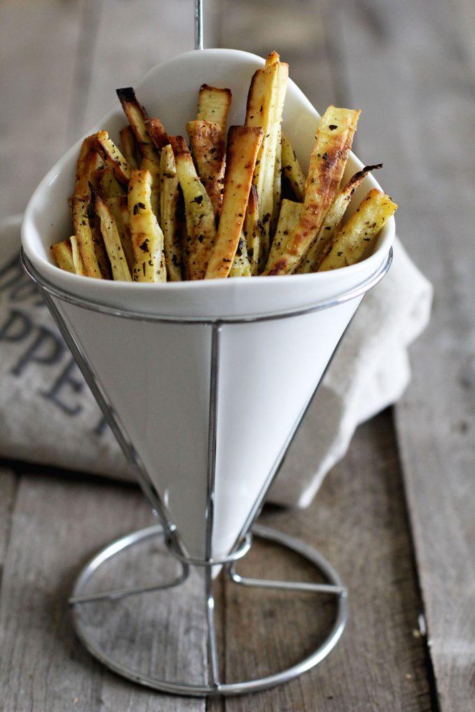 Herb Roasted Parsnip Fries Recipe