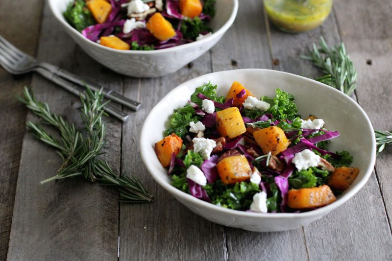 Kale and Roasted Butternut Squash Salad Recipe