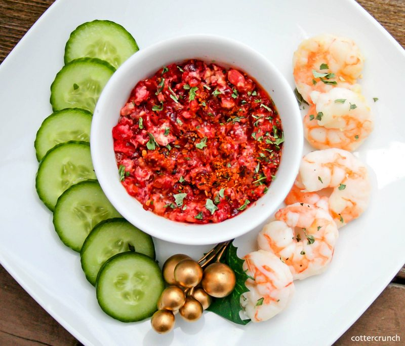Cranberry Basil Shrimp Cocktail Recipe
