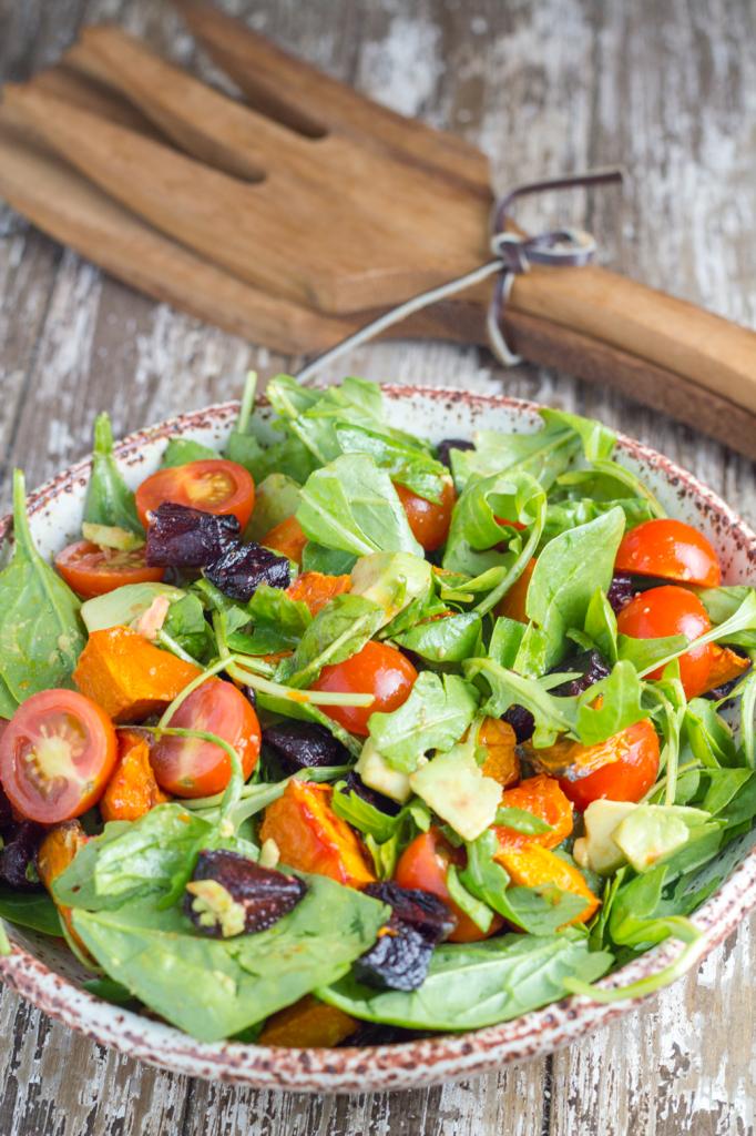 Butternut squash beetroot salad